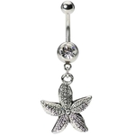 Vintage Starfish Belly Button Ring image