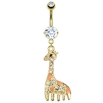 Gold Giraffe Belly Ring image