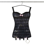 Little Black Corset - Hanging Black Jewelry Organizer image