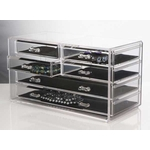 Acrylic Jewelry Chest - 6 Drawers image