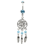 Beautiful Belly Button Ring Dream Catcher Net image