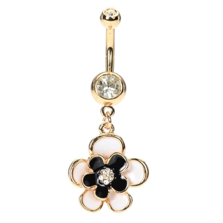 Buy Golden Flower Belly Rings