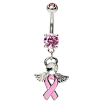 Angel Ribbon Belly Button Rings image
