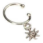 Clip On Belly Ring - Sunflower Dangle image