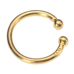 Clip On Fake Navel Ring - Non-Piercing Gold Plated Hoop Ring image