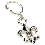 Clip On Navel Rings - Fake Belly Ring Fleur de Lis image