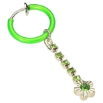 Non Piercing Belly Ring - Spring Hoop Flower image