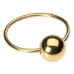 Gold Captive Bead Ring - Gold Plated Piercing image