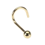 14K Gold Nose Screw - Gold Nose Stud image