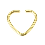 Fake Tragus Piercing - Gold Heart image