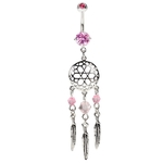 Dreamcatchers Belly Ring - Pink image