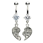 Clear Best of Friends Belly Rings image