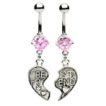 Pink Best of Friends Belly Rings image