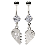 Clear Best Friend Belly Rings image