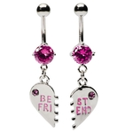 Pink Best Friend Belly Rings image
