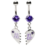Purple Best Friend Belly Rings image