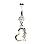 Clear Accented Heart w/ Gem image