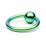 Green Titanium Captive Bead Ring image