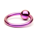 Purple Titanium Captive Bead Ring image