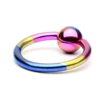 Rainbow Titanium Captive Bead Ring image