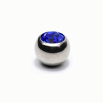 Blue Gem 5mm Belly Button Ring Ball Tops image