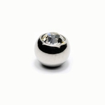 Clear Gem 5mm Belly Button Ring Ball Tops image