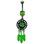 Pot Leaf Dream Catcher image