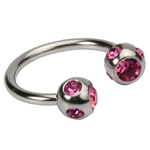 16 GA Pink Five Gem Circular image