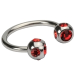 16 GA Red Five Gem Circular Barbell image