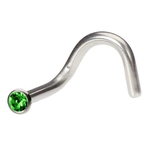 Green Single Gem Nose Screw image