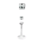 Clear Bioflex Internally Threaded Square Gem Labret/Monroe image