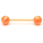 Orange Flexible UV Barbell/Tongue Ring image