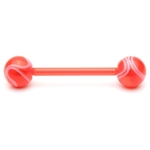 Red Flexible UV Barbell/Tongue Ring image