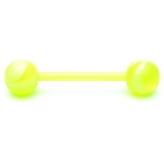 Neon Green Flexible UV Barbell/Tongue Ring image