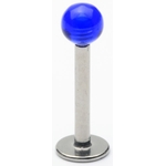 Blue Transparent UV Ball Labret/Monroe image