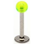 Neon Green Transparent UV Ball Labret/Monroe image