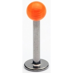 Orange Transparent UV Ball Labret/Monroe image
