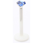 Blue Round Gem Labret/Monroe image