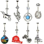 Country Belly Button Rings - Pack of 8 image