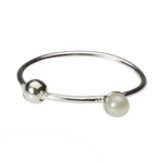 Pearl Nose Ring Hoop 20 Gauge image