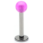 Purple Glow Ball Labret / Monroe image