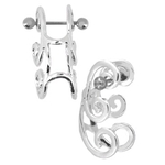 Swirl Cuff Earring - 18g Cartilage image