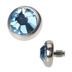 Dermal Anchor Top - 4mm Aqua image