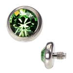 Dermal Anchor Top - 4mm Light Green image