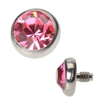 Dermal Anchor Top - 4mm Pink image