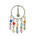 Circle Reverse Dangling Beads Belly Ring image