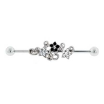 Fancy Flower Industrial Barbell - 1-1/2'' image