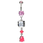 Neon Belly Ring - Hot Pink image