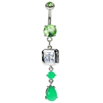 Neon Belly Ring - Neon Green image