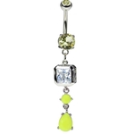 Neon Belly Ring - Neon Yellow image